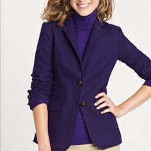 J Crew 6 purple wool hacking jacket blazer